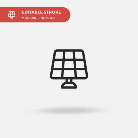 Solar Panel Simple vector icon. Illustration symbol design template for web mobile UI element. Perfect color modern pictogram on editable stroke. Solar Panel icons for your business project