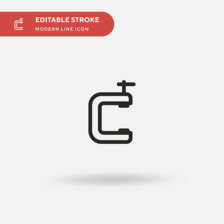 Clamp Simple vector icon. Illustration symbol design template for web mobile UI element. Perfect color modern pictogram on editable stroke. Clamp icons for your business project Ilustração