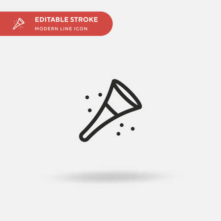 Vuvuzela Simple vector icon. Illustration symbol design template for web mobile UI element. Perfect color modern pictogram on editable stroke. Vuvuzela icons for your business project Иллюстрация
