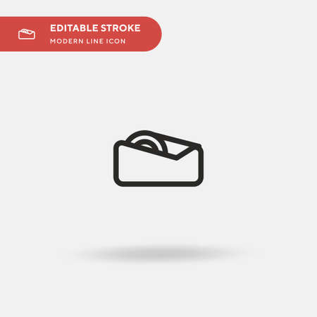 Tape Simple vector icon. Illustration symbol design template for web mobile UI element. Perfect color modern pictogram on editable stroke. Tape icons for your business project