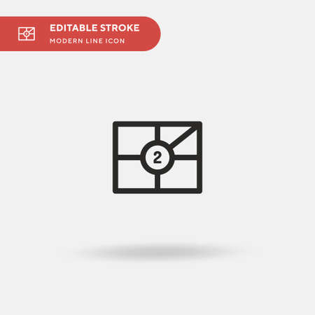 Seats Simple vector icon. Illustration symbol design template for web mobile UI element. Perfect color modern pictogram on editable stroke. Seats icons for your business project