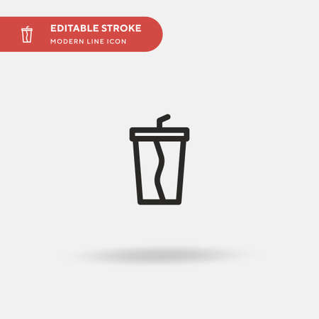 Refreshment Simple vector icon. Illustration symbol design template for web mobile UI element. Perfect color modern pictogram on editable stroke. Refreshment icons for your business project
