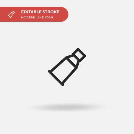 Skin Simple vector icon. Illustration symbol design template for web mobile UI element. Perfect color modern pictogram on editable stroke. Skin icons for your business project