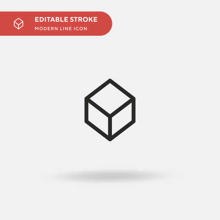 Cube Simple vector icon. Illustration symbol design template for web mobile UI element. Perfect color modern pictogram on editable stroke. Cube icons for your business project