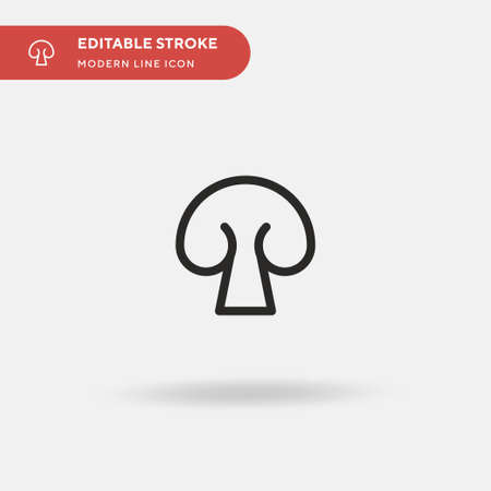 Mushroom Simple vector icon. Illustration symbol design template for web mobile UI element. Perfect color modern pictogram on editable stroke. Mushroom icons for your business project