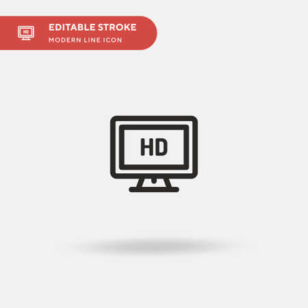 Tv Screen Simple vector icon. Illustration symbol design template for web mobile UI element. Perfect color modern pictogram on editable stroke. Tv Screen icons for your business project