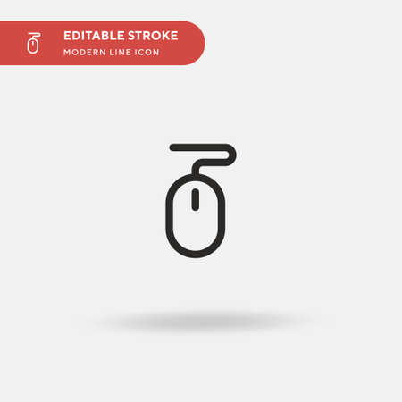 Mouse Simple vector icon. Illustration symbol design template for web mobile UI element. Perfect color modern pictogram on editable stroke. Mouse icons for your business project