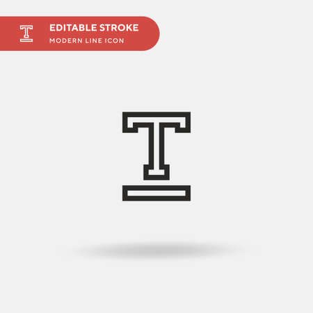 Underline Simple vector icon. Illustration symbol design template for web mobile UI element. Perfect color modern pictogram on editable stroke. Underline icons for your business project