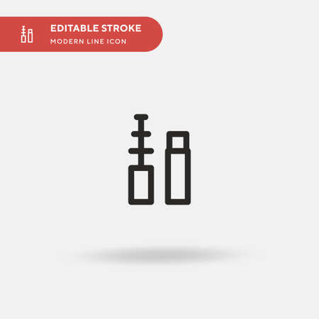 Makeup Simple vector icon. Illustration symbol design template for web mobile UI element. Perfect color modern pictogram on editable stroke. Makeup icons for your business project