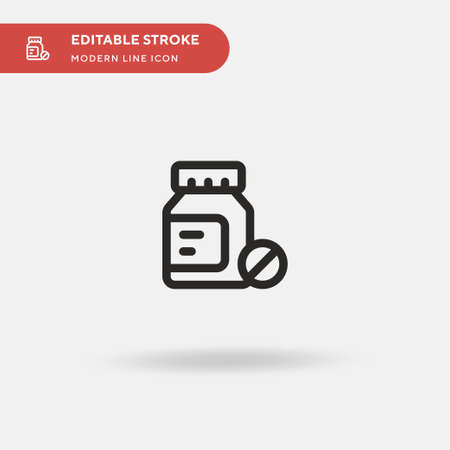 Medicines Simple vector icon. Illustration symbol design template for web mobile UI element. Perfect color modern pictogram on editable stroke. Medicines icons for your business project Vektorové ilustrace