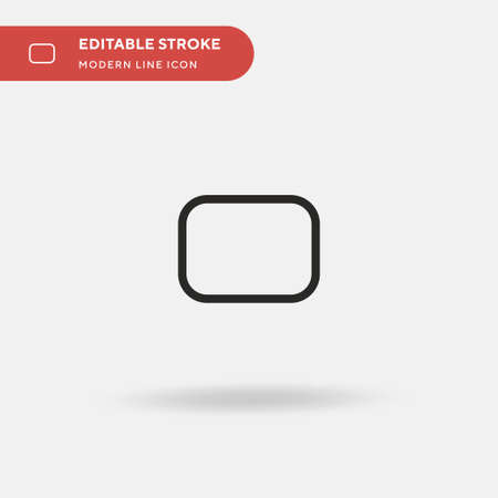 Rounded Rectangle Simple vector icon. Illustration symbol design template for web mobile UI element. Perfect color modern pictogram on editable stroke. Rounded Rectangle icons for your business project
