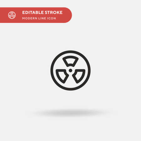Radiation Simple vector icon. Illustration symbol design template for web mobile UI element. Perfect color modern pictogram on editable stroke. Radiation icons for your business project