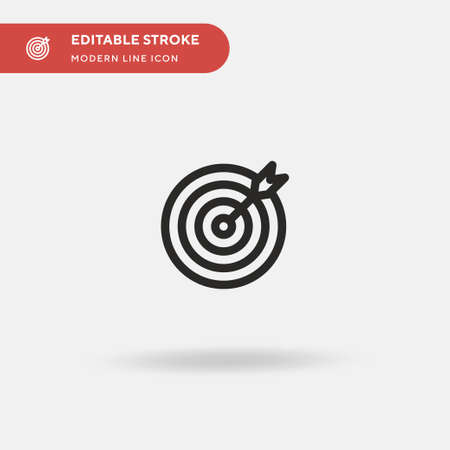 Target Simple vector icon. Illustration symbol design template for web mobile UI element. Perfect color modern pictogram on editable stroke. Target icons for your business project Illustration