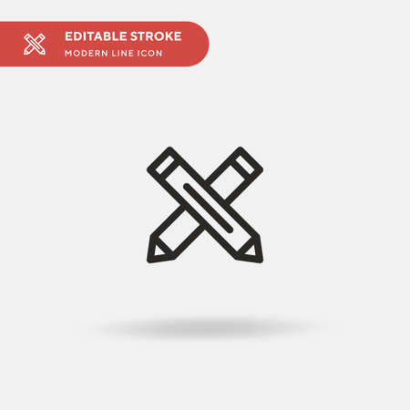 Crayon Simple vector icon. Illustration symbol design template for web mobile UI element. Perfect color modern pictogram on editable stroke. Crayon icons for your business project