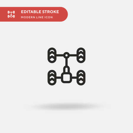 Chassis Simple vector icon. Illustration symbol design template for web mobile UI element. Perfect color modern pictogram on editable stroke. Chassis icons for your business project