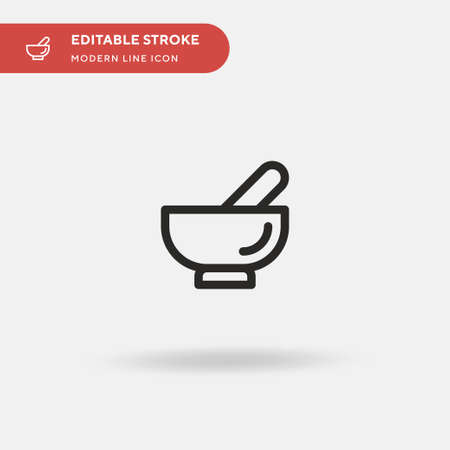 Mortar Simple vector icon. Illustration symbol design template for web mobile UI element. Perfect color modern pictogram on editable stroke. Mortar icons for your business project