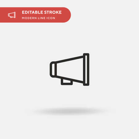 Movie Director Simple vector icon. Illustration symbol design template for web mobile UI element. Perfect color modern pictogram on editable stroke. Movie Director icons for your business project