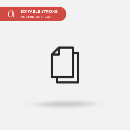 Papers Simple vector icon. Illustration symbol design template for web mobile UI element. Perfect color modern pictogram on editable stroke. Papers icons for your business project Ilustrace