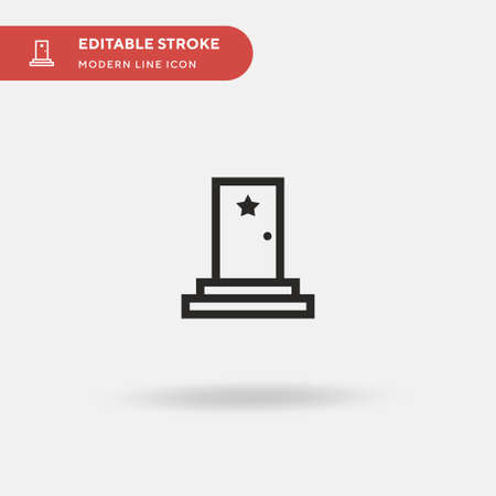 Backstage Simple vector icon. Illustration symbol design template for web mobile UI element. Perfect color modern pictogram on editable stroke. Backstage icons for your business project Illustration
