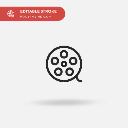 Movie Simple vector icon. Illustration symbol design template for web mobile UI element. Perfect color modern pictogram on editable stroke. Movie icons for your business project