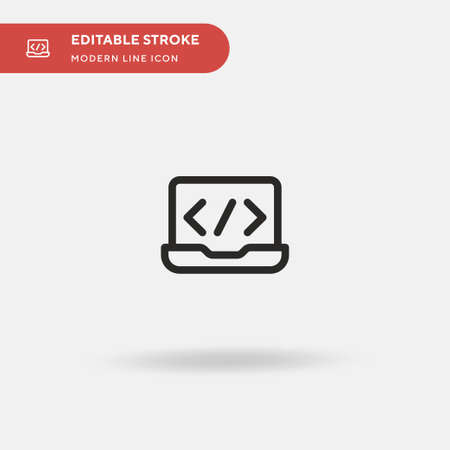 Laptop Simple vector icon. Illustration symbol design template for web mobile UI element. Perfect color modern pictogram on editable stroke. Laptop icons for your business project Ilustrace