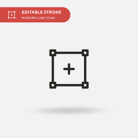 Rectangular Simple vector icon. Illustration symbol design template for web mobile UI element. Perfect color modern pictogram on editable stroke. Rectangular icons for your business project Ilustracja