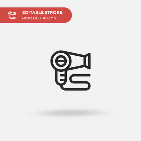 Hairdryer Simple vector icon. Illustration symbol design template for web mobile UI element. Perfect color modern pictogram on editable stroke. Hairdryer icons for your business project