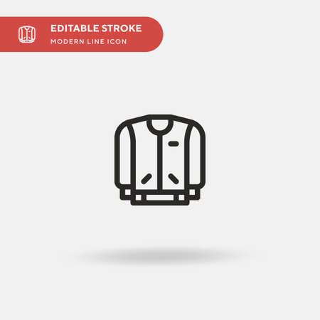 Jacket Simple vector icon. Illustration symbol design template for web mobile UI element. Perfect color modern pictogram on editable stroke. Jacket icons for your business project 일러스트