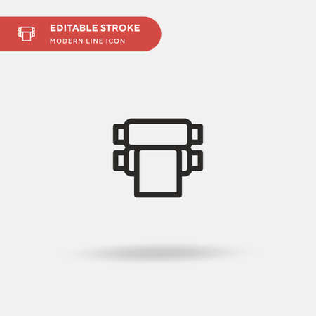 Rolling Machine Simple vector icon. Illustration symbol design template for web mobile UI element. Perfect color modern pictogram on editable stroke. Rolling Machine icons for your business project