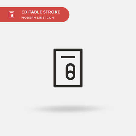 Locker Simple vector icon. Illustration symbol design template for web mobile UI element. Perfect color modern pictogram on editable stroke. Locker icons for your business project Illustration