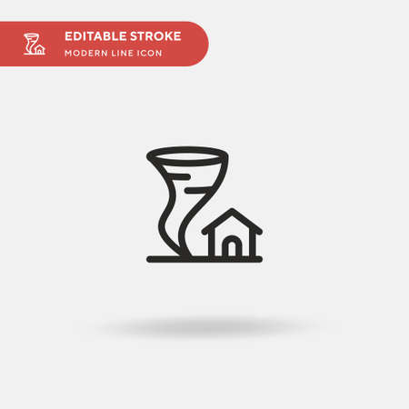 Tornado Simple vector icon. Illustration symbol design template for web mobile UI element. Perfect color modern pictogram on editable stroke. Tornado icons for your business project