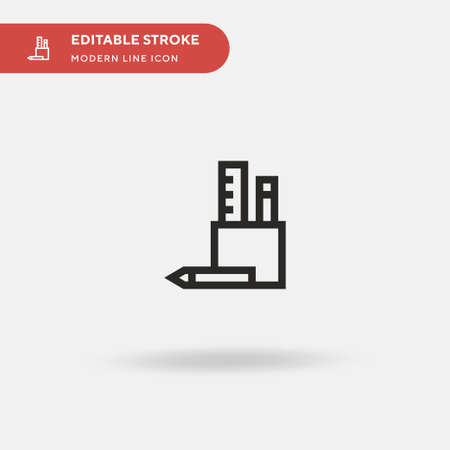 Pencil Case Simple vector icon. Illustration symbol design template for web mobile UI element. Perfect color modern pictogram on editable stroke. Pencil Case icons for your business project Illustration