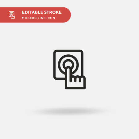 Fire Alarm Simple vector icon. Illustration symbol design template for web mobile UI element. Perfect color modern pictogram on editable stroke. Fire Alarm icons for your business project
