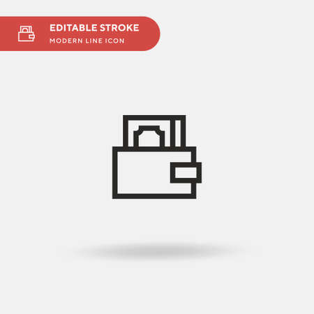 Wallet Simple vector icon. Illustration symbol design template for web mobile UI element. Perfect color modern pictogram on editable stroke. Wallet icons for your business project
