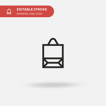 Shopping Bag Simple vector icon. Illustration symbol design template for web mobile UI element. Perfect color modern pictogram on editable stroke. Shopping Bag icons for your business project  イラスト・ベクター素材