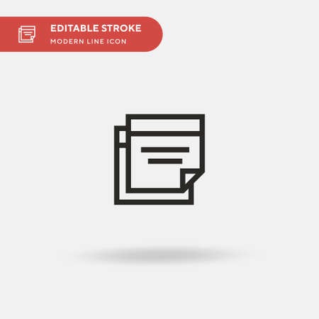 Documents Simple vector icon. Illustration symbol design template for web mobile UI element. Perfect color modern pictogram on editable stroke. Documents icons for your business project Ilustrace