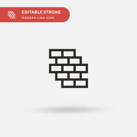 Wall Simple vector icon. Illustration symbol design template for web mobile UI element. Perfect color modern pictogram on editable stroke. Wall icons for your business project