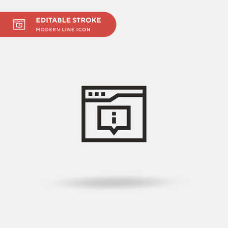 Notification Simple vector icon. Illustration symbol design template for web mobile UI element. Perfect color modern pictogram on editable stroke. Notification icons for your business project