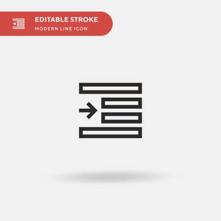 Right Indent Simple vector icon. Illustration symbol design template for web mobile UI element. Perfect color modern pictogram on editable stroke. Right Indent icons for your business project Illustration