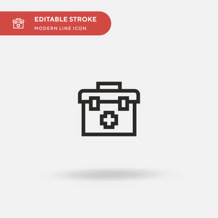 First Aid Kit Simple vector icon. Illustration symbol design template for web mobile UI element. Perfect color modern pictogram on editable stroke. First Aid Kit icons for your business project