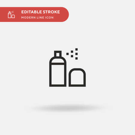 Aerosol Simple vector icon. Illustration symbol design template for web mobile UI element. Perfect color modern pictogram on editable stroke. Aerosol icons for your business project