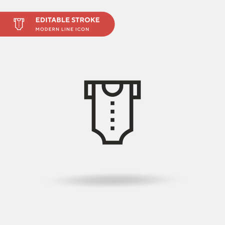 Body Simple vector icon. Illustration symbol design template for web mobile UI element. Perfect color modern pictogram on editable stroke. Body icons for your business project
