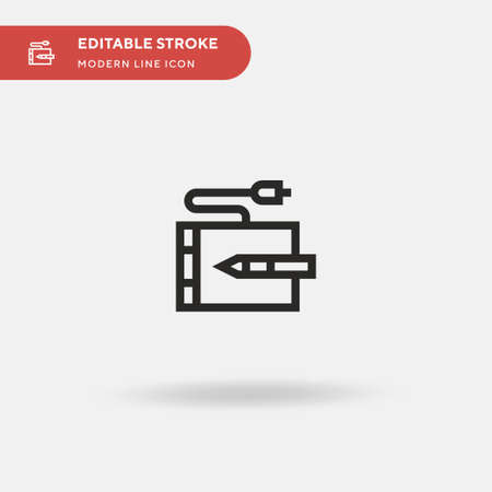 Pen Tablet Simple vector icon. Illustration symbol design template for web mobile UI element. Perfect color modern pictogram on editable stroke. Pen Tablet icons for your business project Ilustrace