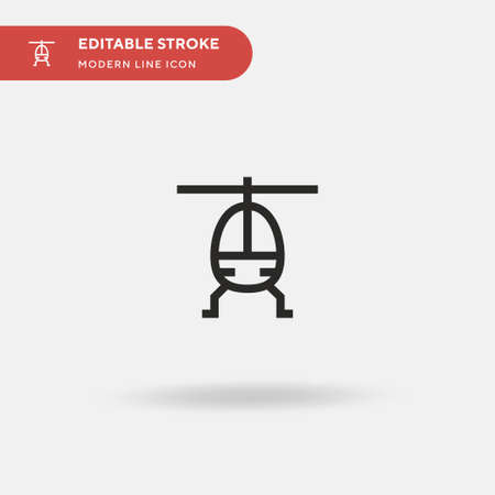Helicopter Simple vector icon. Illustration symbol design template for web mobile UI element. Perfect color modern pictogram on editable stroke. Helicopter icons for your business project