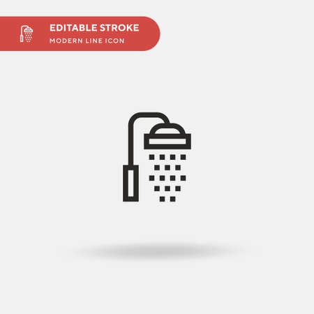 Shower Simple vector icon. Illustration symbol design template for web mobile UI element. Perfect color modern pictogram on editable stroke. Shower icons for your business project Ilustrace