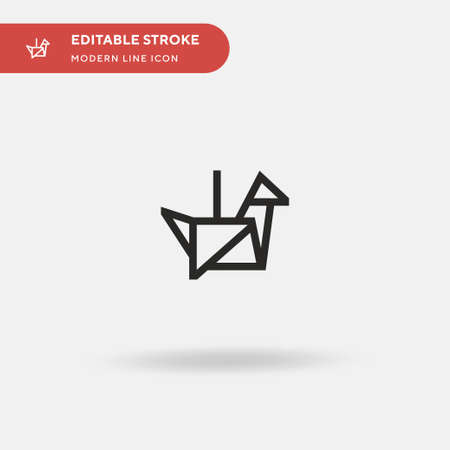 Origami Simple vector icon. Illustration symbol design template for web mobile UI element. Perfect color modern pictogram on editable stroke. Origami icons for your business project