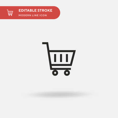 Shopping Cart Simple vector icon. Illustration symbol design template for web mobile UI element. Perfect color modern pictogram on editable stroke. Shopping Cart icons for your business project Illustration