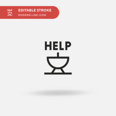 Help Simple vector icon. Illustration symbol design template for web mobile UI element. Perfect color modern pictogram on editable stroke. Help icons for your business project Reklamní fotografie - 151421158