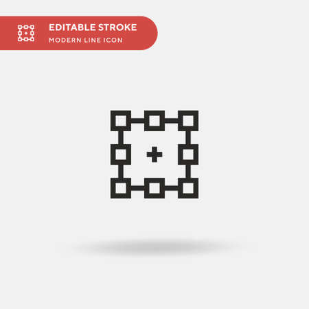 Object Simple vector icon. Illustration symbol design template for web mobile UI element. Perfect color modern pictogram on editable stroke. Object icons for your business project Vecteurs