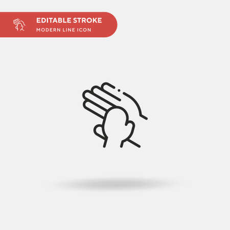 Hands Simple vector icon. Illustration symbol design template for web mobile UI element. Perfect color modern pictogram on editable stroke. Hands icons for your business project Reklamní fotografie - 151437288